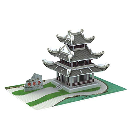 Puzzles für Kinder, 3D-Spielzeug-Puzzle DIY Haus Villa Kinder Jungen Mädchen Pädagogisches Haus Papier Puzzle D Eaylis