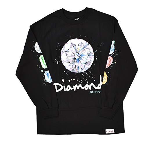 Diamond Supply Co. Men's Splash Sign Long Sleeve T Shirt Black M