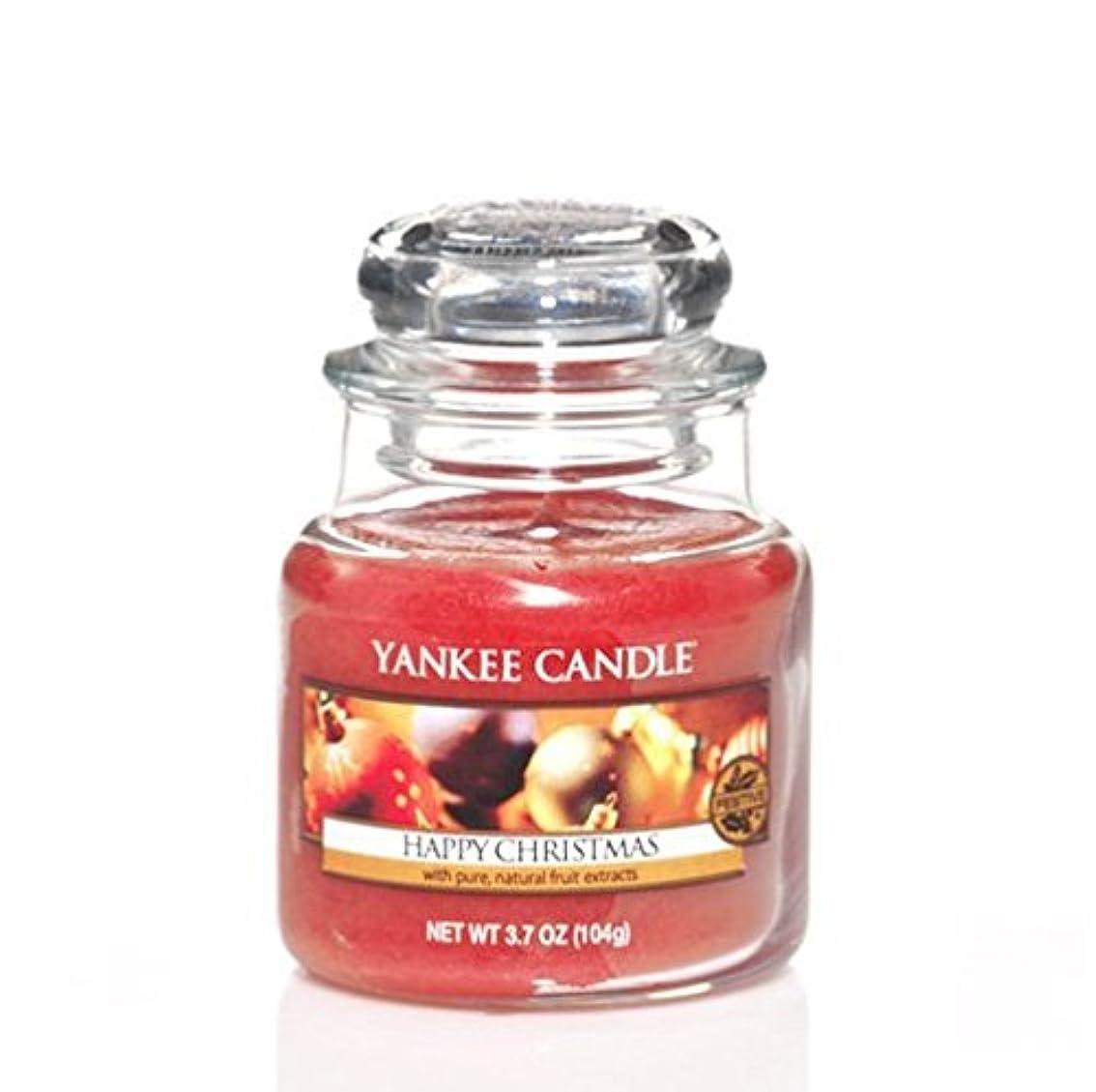 がっかりしたさらに例外Yankee Candle 3.7oz Small Jar Happyクリスマス