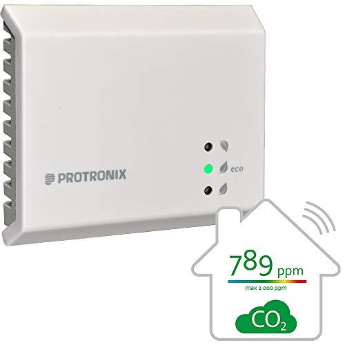Kohlendioxid Detektor | Protronix Melder CO2 | Indoor CO2-Luftqualitätsmonitor | HLK-Steuerung Lüftungssteuerung | Entwickelt und Hergestellt in der Czech Republic | NLII-CO2