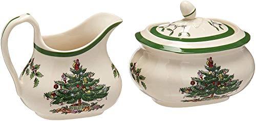 Spode Christmas Tree Sugar and Creamer Set