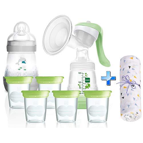MAM Anti-Kolik Starter-Set Stillen inkl. Aufbewahrungssystem für Muttermilch // ab Geburt + Geschenk
