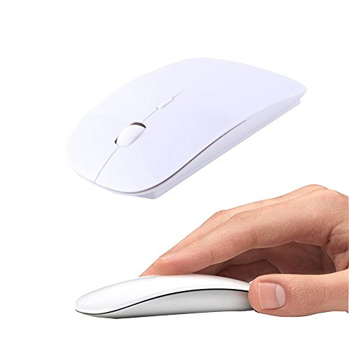 UrChoiceLtd Wireless Mouse, 2.4GHz Mouse Form Fitting Ergonomic Curved Cordless USB Optical Gaming Mouse with Nano Receiver Computer Mouse for Apple Macbook Air Pro PC Laptop