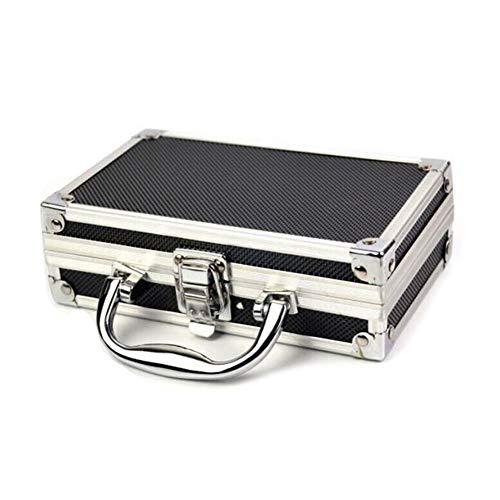 JoyFan - Mini custodia in alluminio portatile per trasportare oggetti da viaggio, 180 x 110 x 55 mm, colore: Nero