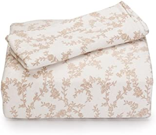 Laura Ashley Flannel Sheet Set, King, Victoria
