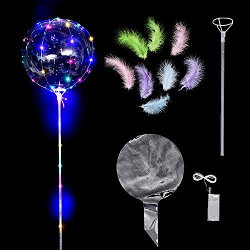 Gobesty Globo transparente LED, 6 piezas Globo LED luminoso Globos luminosos decorativos creativos para fiesta Cumpleaños Bodas Festival Club Bar Concierto