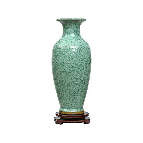 Jing Dezhen Green Crackle Keramik Vase, Chinesische Vasen Deko Vase Vase Jugendstil, Ideale...