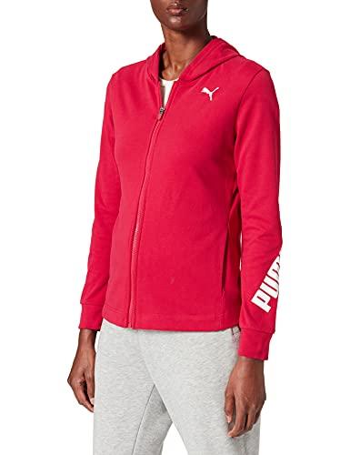 PUMA Modern Sports Fullzip Hoodie Maglione, Persian Red, L Women's