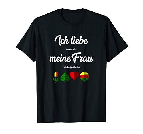 Lustiges Schafkopf Kartenspiel Bayrisches Kartenblatt T-Shirt