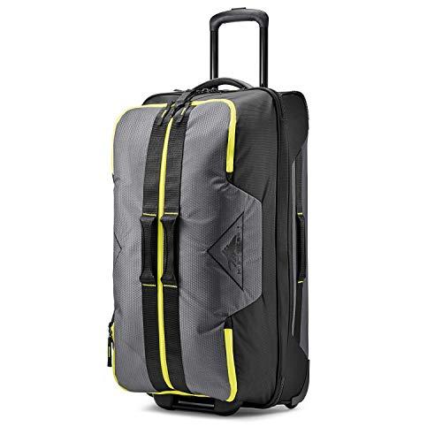 High Sierra Dells Canyon Wheeled Duffel Bag, Mercury/Black/Glow, 34-Inch