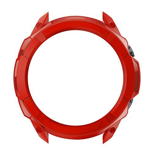 TOOGOO Adecuado para Galaxy Watch3 Funda Protectora Hueca Funda Protectora R850 (Rojo, 45 Mm)