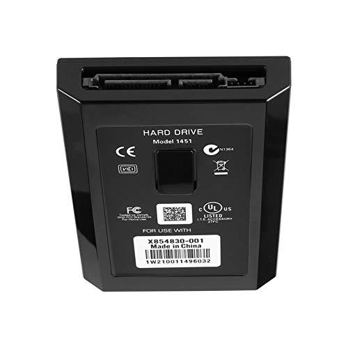Disco duro de consola de juegos, disco duro interno delgado Hdd para Xbox360 mejor regalo para videojuegos, 500 GB/320GB/250GB/120GB/60GB opcional, negro (250GB)