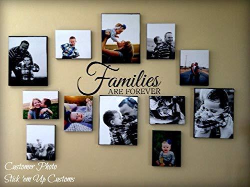 Gezinnen zijn voor altijd - Muursticker - Perfect voor het verfraaien van de muur of het maken van een collage van fotolijsten van familieleden - Collage Idee