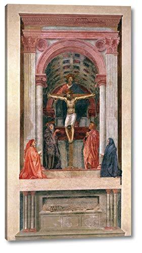 "Trinity by Masaccio - 11"" x 20"" Gallery Wrap Canvas Art Print - Ready to Hang"