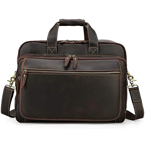 SXZHSM Leder Aktentasche Business Herren 17 Zoll Laptop Computer Tasche Schultertasche Messenger Bag Aktentasche