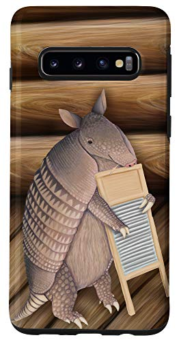 Galaxy S10 Armadillo playing the washboard Case