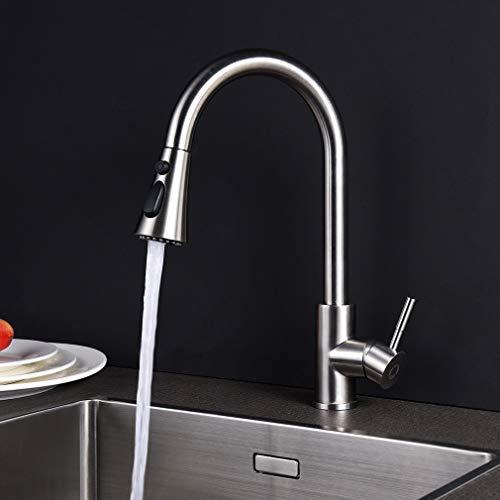 CECIPA Küchenarmatur Wasserhahn Küche Küchenarmatur ausziehbar mit Herausziehbare Brause, 360° Drehbar, 3 Strahlarten Brause Spültischarmatur 100% Bleifrei und Nickelfrei