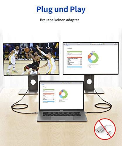 JSAUX USB C auf HDMI Kabel 3M(4K@60Hz), Typ C zu HDMI Kabel [Thunderbolt 3 Kompatibel] für MacBook Pro 2018/2019, iPad Pro/MacBook Air 2018, Samsung S20/S20+/S10/S9/S8/Note 9, Huawei P20/Mate20 Grau