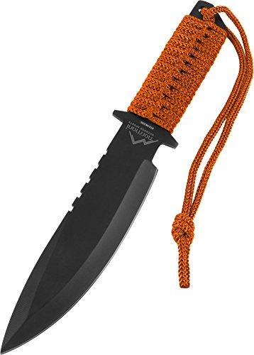 normani Messer mit feststehender Klinge und Nylontasche, Griff mit Nylonband Adventurer Farbe Orange