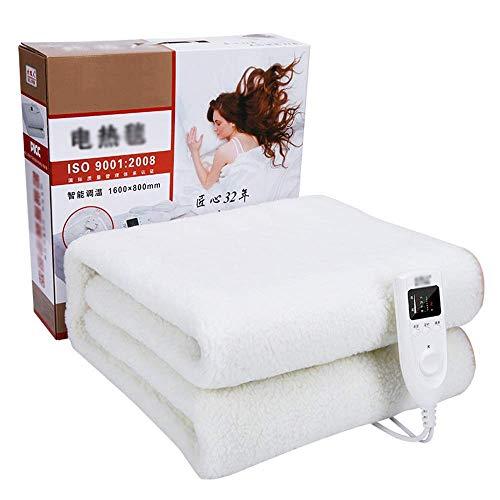 UWY Dual-Control-Thermostat Intelligentes Timing Heizdecke mit Timer / 5 Heißeinstellung Elektrische Matratze Warmer Abnehmbarer Mehrzonen-Controller Geeignet für Senioren/Frauen/Männer/Ki
