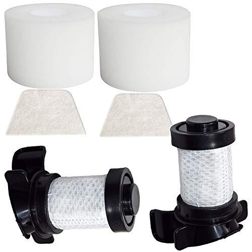 OxoxO - Filtros de repuesto para Shark Filters, 2 unidades, HEPA y 2 filtros de espuma y fieltro para IONFlex DuoClean IF180 IF251 IF200 IF201 IF202 IF205 IF100 IF150 IF160 IF170