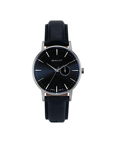 Gant Herren Analog Quarz Uhr mit Leder Armband W108413