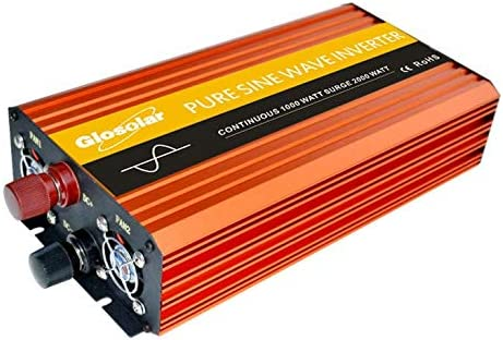 1000W Pure Sine Wave Power Inverter Outlets Colorado Springs Mall Manufacturer regenerated product AC 2000W Peak DC 12V