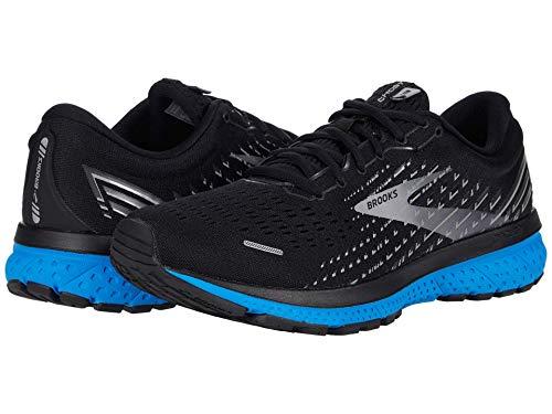 Brooks Mens Ghost 13 Running Shoe - Black/Grey/Blue - D - 12