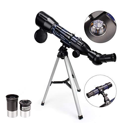 Moutec Kinderen Telescoop, Draagbare telescopen voor kinderen en beginners, 360/50mm reikwijdte Astronomische telescoop met lichtgewicht statief