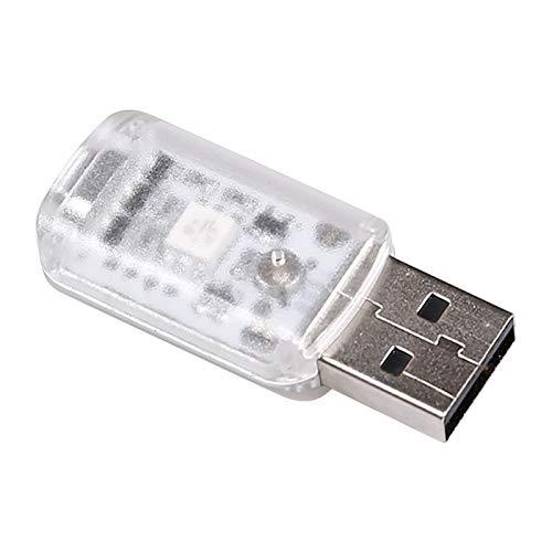 Vintagen Lámpara de atmósfera de Coche USB Luz de Noche Colorida Lámpara LED Decorativa automotriz Lámpara de atmósfera de Coche