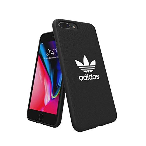 adidas 29943 Originals Adicolor Geformte Schutzhülle für Apple iPhone 8 Plus/7 Plus/6S Plus/6 Plus, Schwarz