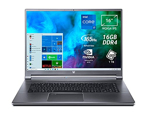 "Predator Triton 500 SE PT516-51s-79JJ PC Gaming Portatile, Intel Core i7-11800H, Ram 16 GB DDR4, 1024 GB PCIe NVMe SED SSD, Display 16"" WQXGA 165 Hz, NVIDIA GeForce RTX 3070 8 GB, Windows 10 Home"