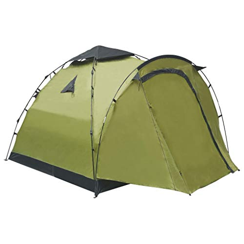 Lechnical Pop Up Camping Tents for 3 Person, Dome Tent Canopy with an 80 cm Anteroom for Hiking Outdoor, Quick Set up and Package, 220 x (220+80) x 160 cm, Green