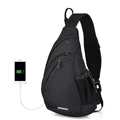 One Shoulder BackpackSling Bag Crossbody USB Boys Cycling Sports Travel Veelzijdige modetas Student School