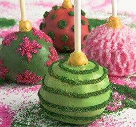 Brownie Pops - Ornaments, GreenChocolate, DotsDesign