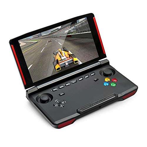 HXwsa Handspelconsole, 5 inch touchscreen Android 7.0 Portable Video Game Player Laptop 5000 mAh batterij, HDMI-interface, 2 GB + 16 GB, Bluetooth-verbinding