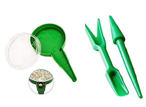 Seminatrice Manuale di precisione - seminare ortaggi - Coltivare orto - Giardino - Confezione da 3 Pezzi - Idea Regalo Natale e Compleanno