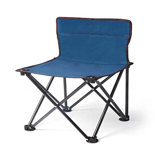 showyow Silla Plegable, Silla Plegable Ligera para Exteriores, Silla de Camping, Silla de Playa, Pesca, Senderismo por el jardín y Viajes (Color: Azul)