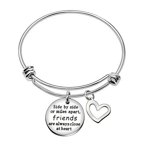 Erweiterbar Armreif Armbänder Schmuck Best Friend für Frauen Side by Side Friends sind zu Herz