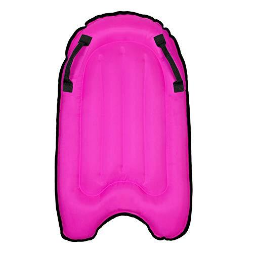 BIN Tabla Paddle Surf Hinchable Junta de Surf Mar Segura para niños Portátil Soft Bodyboard para el Surf para Principiantes Piscina de flotación a la natación,Rosado