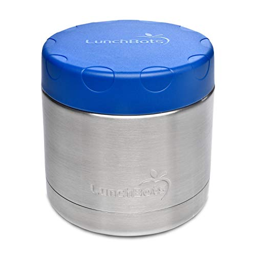 LunchBots Wide Thermal 16 oz. All Stainless Steel Bowl - Insulated Food...