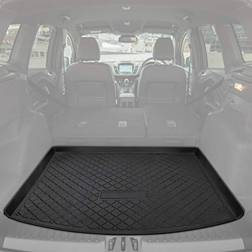 E-cowlboy Trunk Cargo Liner Mat Tray for Ford Escape 2013~2019 Heavy Duty Waterproof Trunk Floor Mat Custom Fit - All Weather Odorless (Black)
