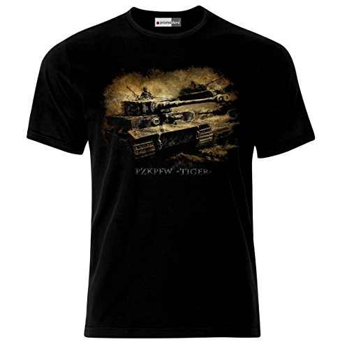 German Army Tiger Tank Panzer WW2 Wehrmacht T-Shirt (S)