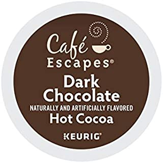 Cafe Escapes, Dark Chocolate Hot Cocoa, Single-Serve Keurig K-Cup Pods, 72 Count (3 Boxes..