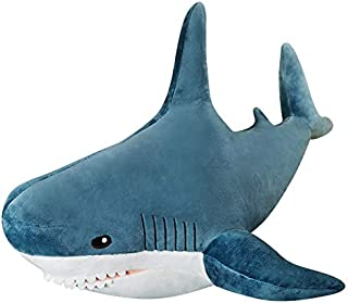 Plush Toy Pillow, 31 Inch Giant Blue-Sharks Stuffed...
