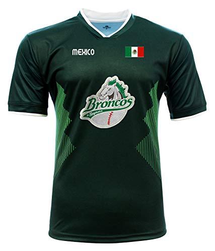 Jersey Mexico Broncos de Reynosa 100% Polyester_Made in Mexico (XX-Large) Green