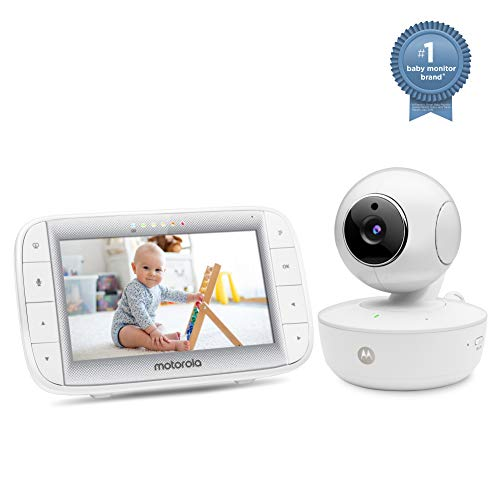 "Motorola Video Baby Monitor 5"" Color Parent Unit, Remote Pan/Tilt/Zoom, Portable Rechargeable..."