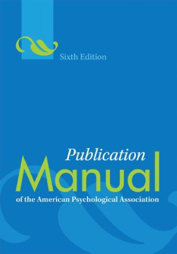 PUBN MANUAL OF THE AMER PSYCHO (PUBLICATION MANUAL  OF THE AMERICAN PSYCHOLOGICAL ASSOCIATION)