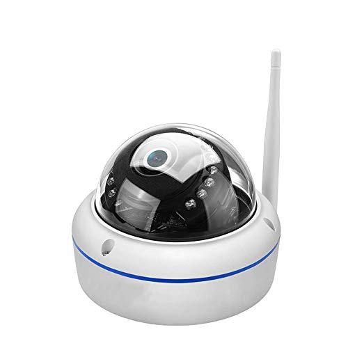 Cámara IP de 1080 p cámara de seguridad domo con lente de 3,6 mm IP66 impermeable Pan Tilt ONVIF WiFi cámara con audio visión nocturna, alarma de detección de movimiento