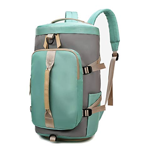 ANPTER Sports Duffle Backpack for Women Gym Bag Holdall Rucksack with Shoes Compartment for Sport Traveling Swimming Yoga Hiking Camping (Women Sports Duffle Backpack for Green)